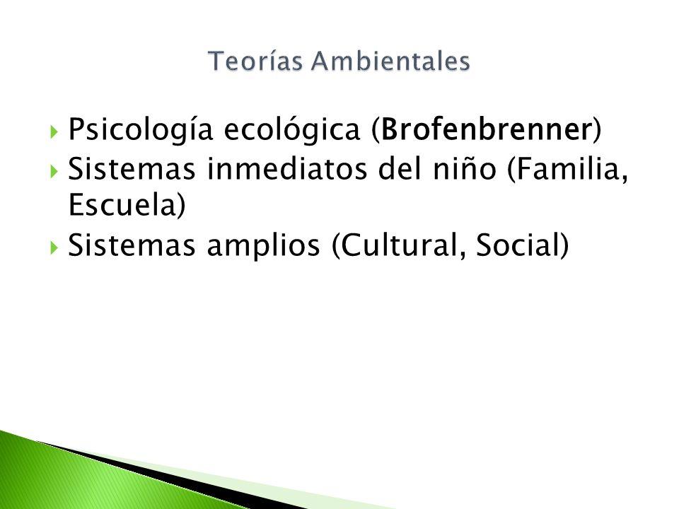 Psicología ecológica (Brofenbrenner)