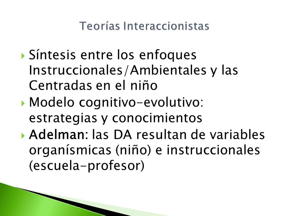 Teorías Interaccionistas