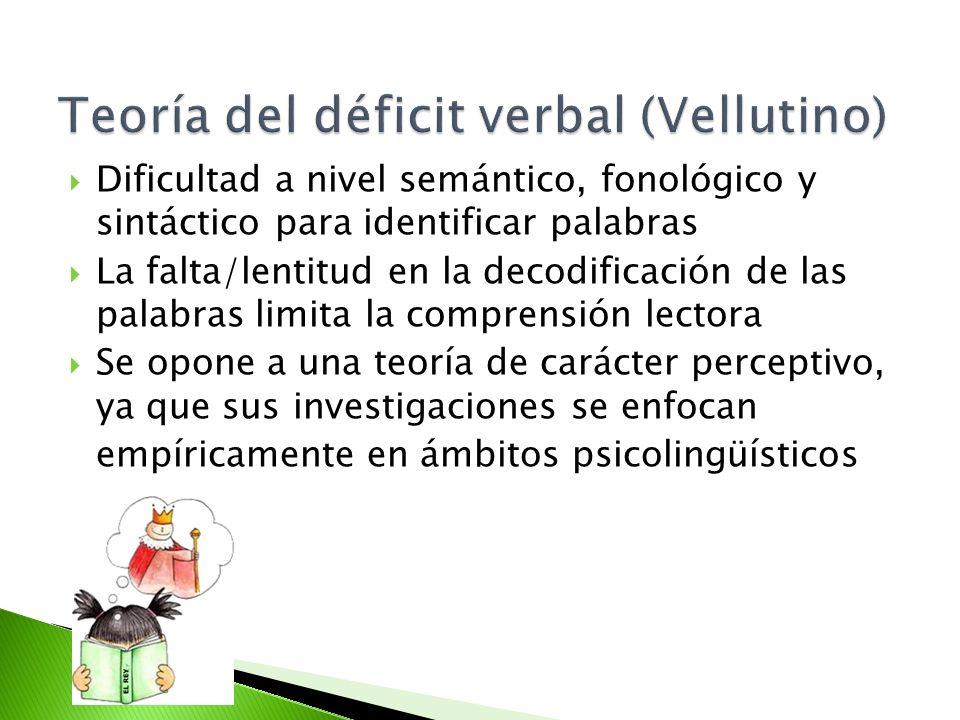 Teoría del déficit verbal (Vellutino)
