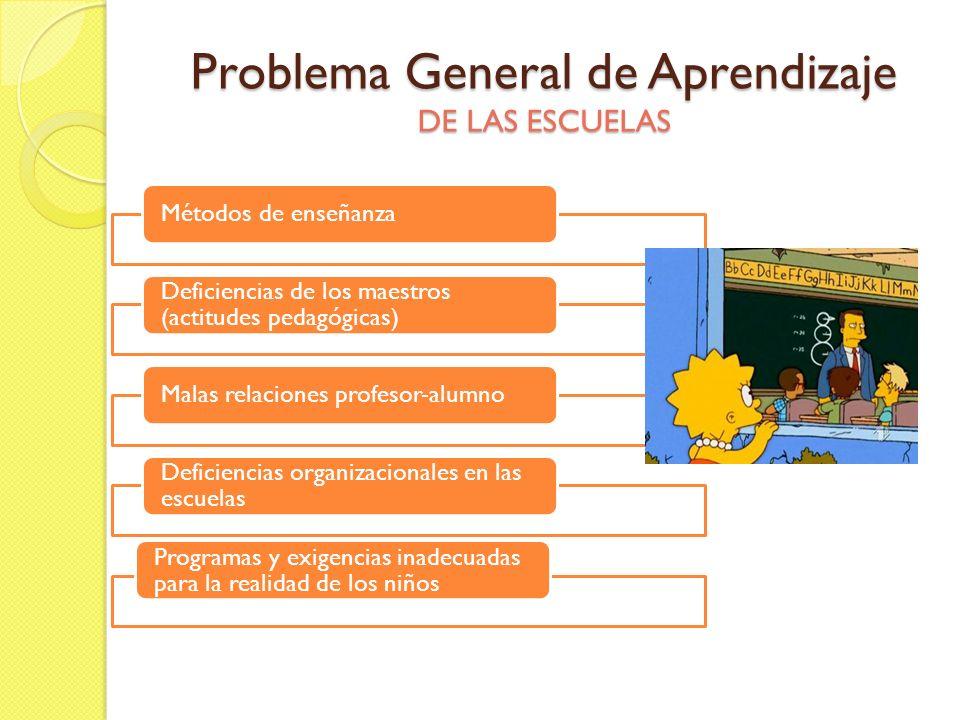 Problema General de Aprendizaje DE LAS ESCUELAS