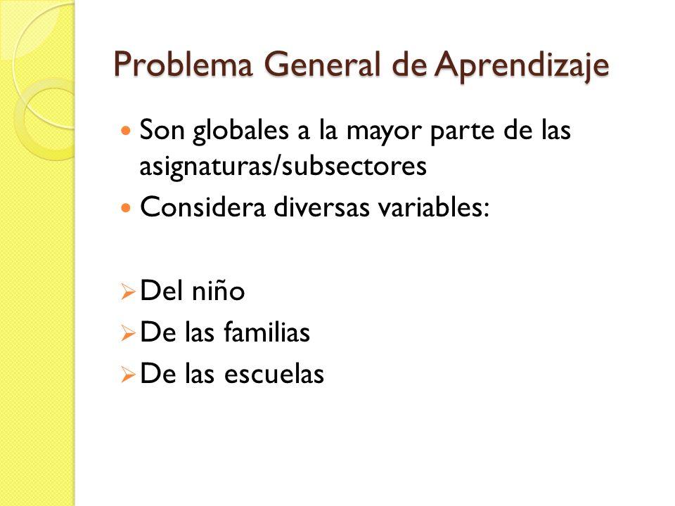 Problema General de Aprendizaje