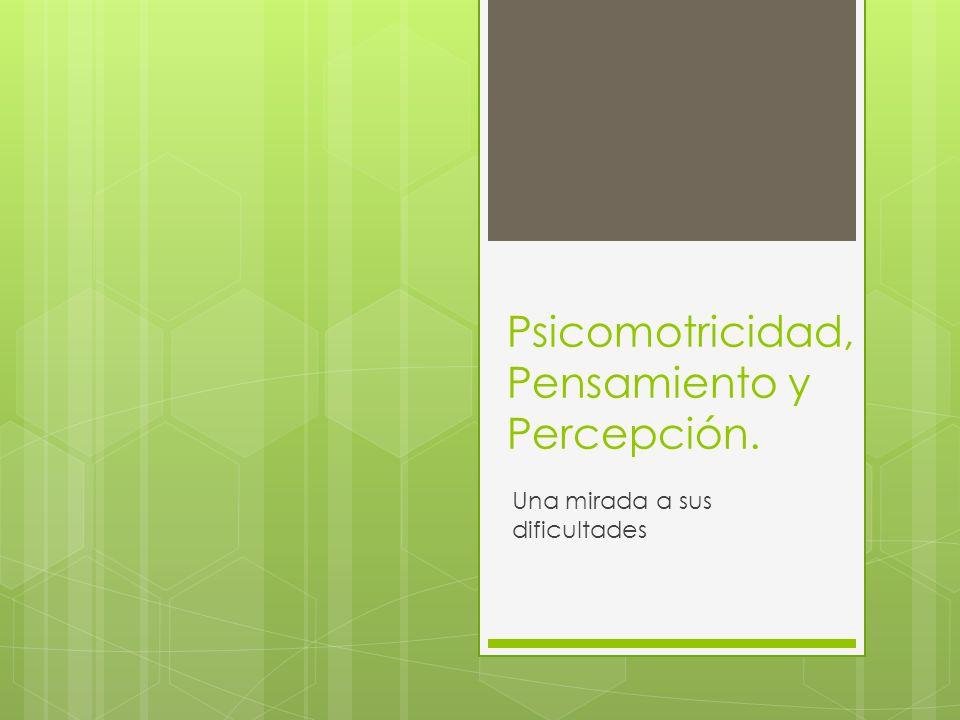 Psicomotricidad, Pensamiento y Percepción.