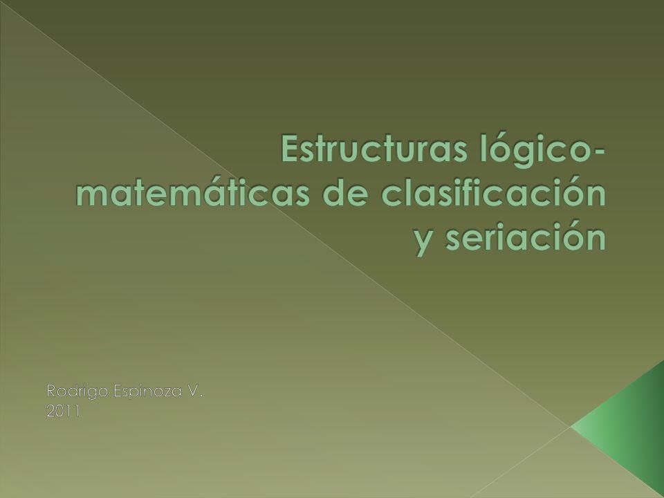 Estructuras lógico-matemáticas de clasificación y seriación