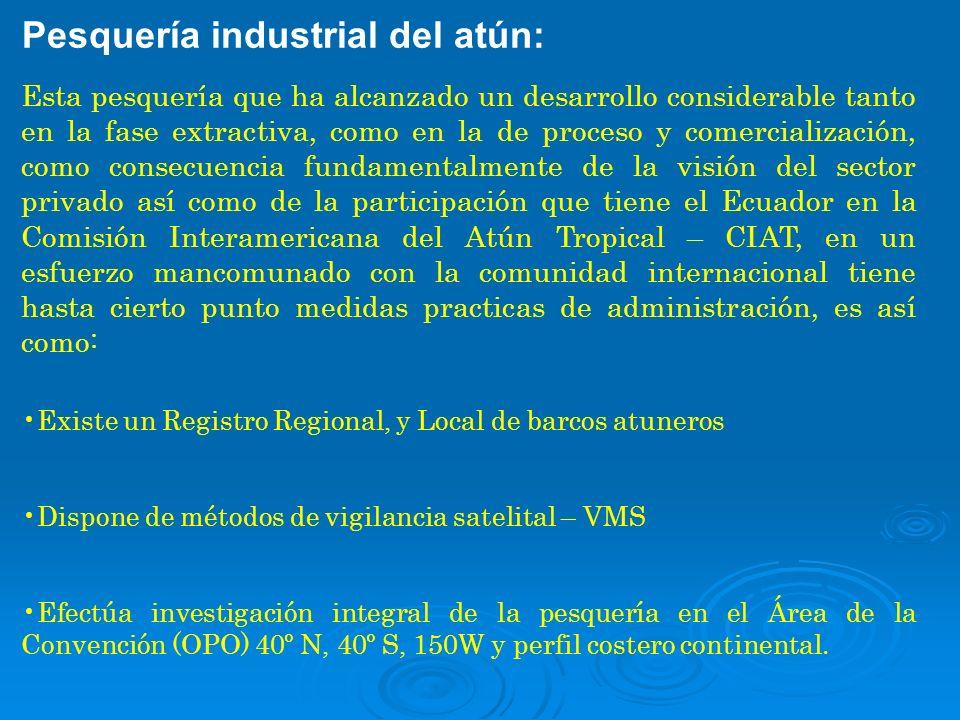 Pesquería industrial del atún:
