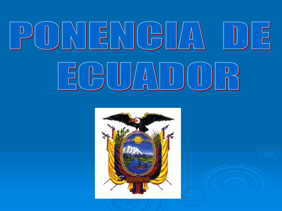 PONENCIA DE ECUADOR