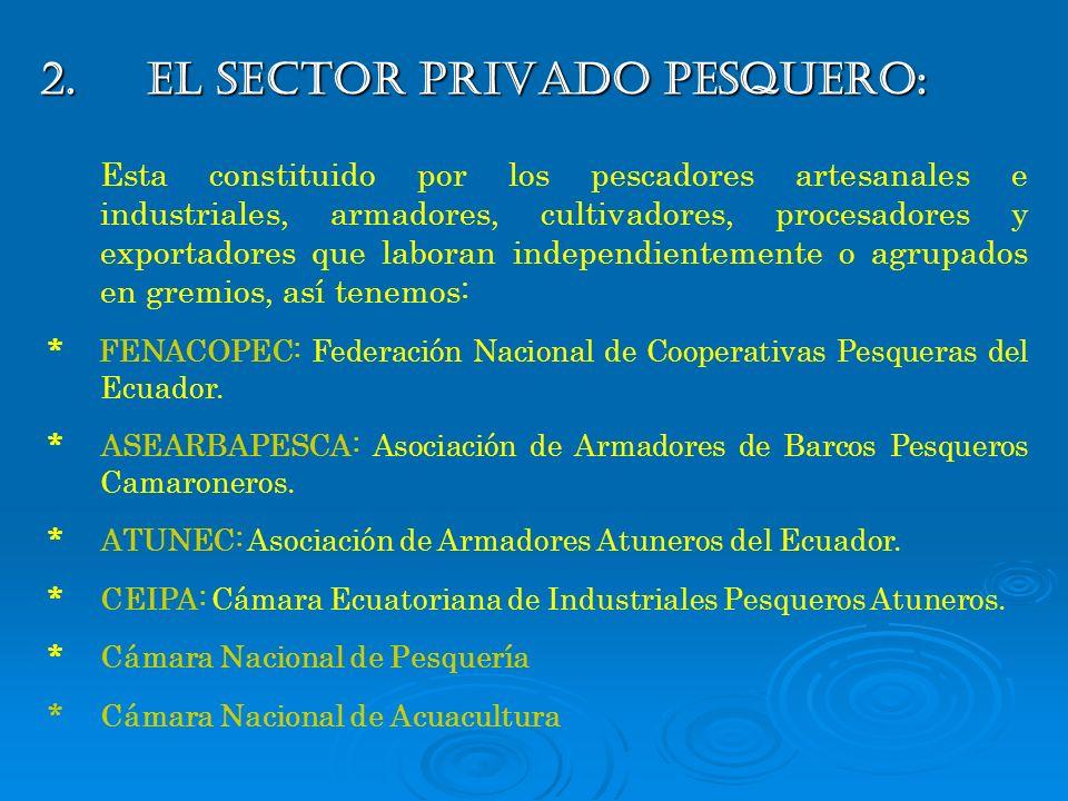 2. EL SECTOR PRIVADO PESQUERO: