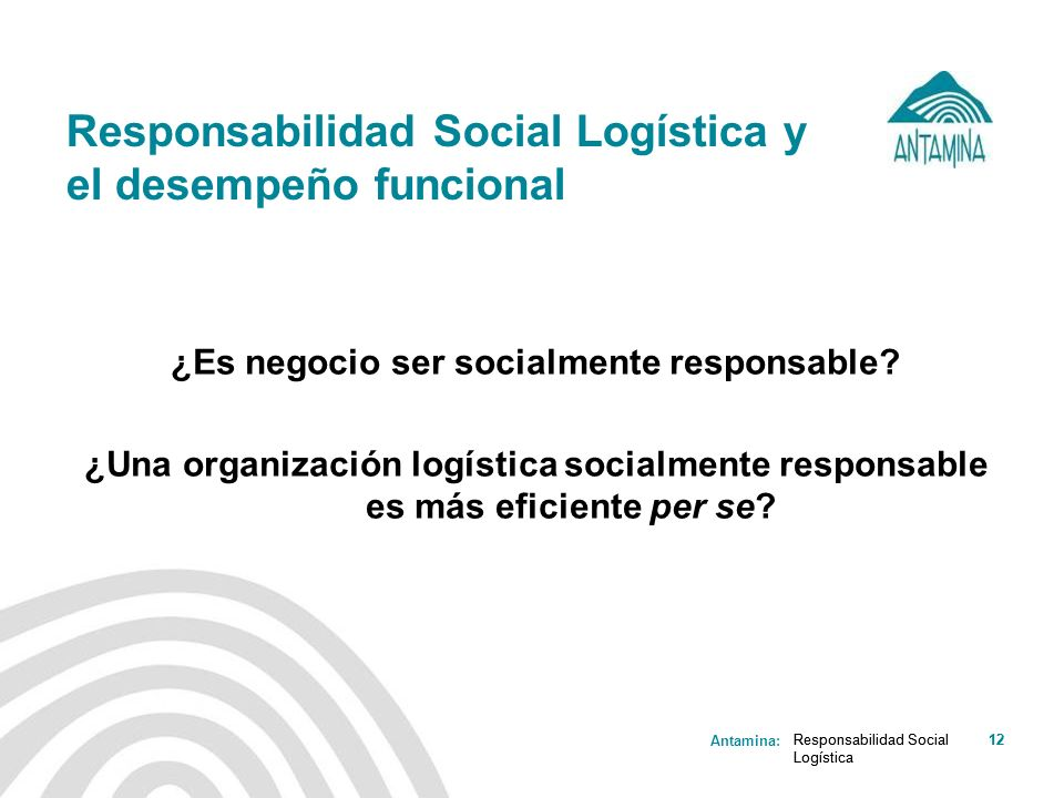 Responsabilidad Social Logística y el desempeño funcional