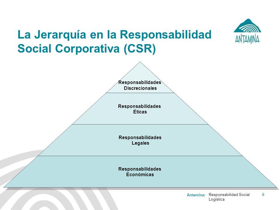 La Jerarquía en la Responsabilidad Social Corporativa (CSR)