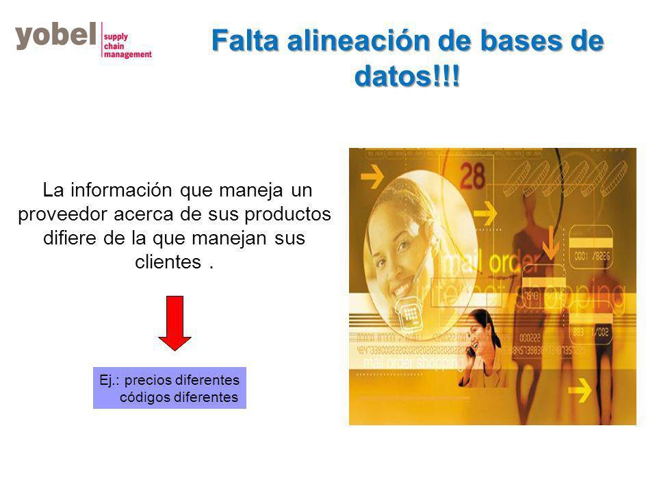 Falta alineación de bases de datos!!!