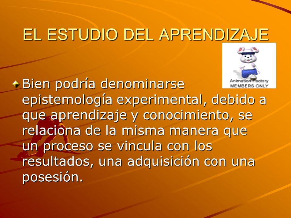 EL ESTUDIO DEL APRENDIZAJE