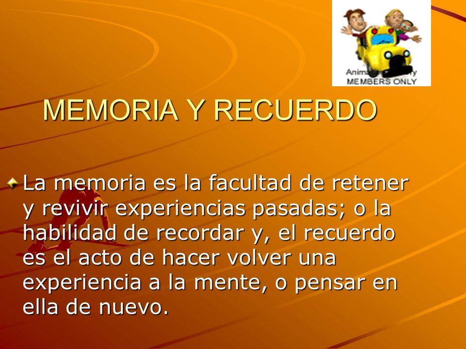 MEMORIA Y RECUERDO