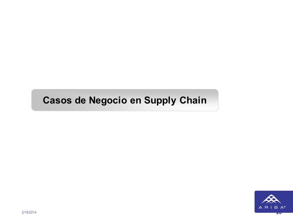 Casos de Negocio en Supply Chain