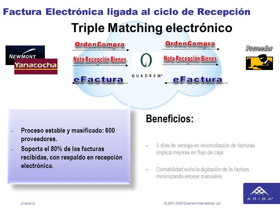 Factura Electrónica ligada al ciclo de Recepción