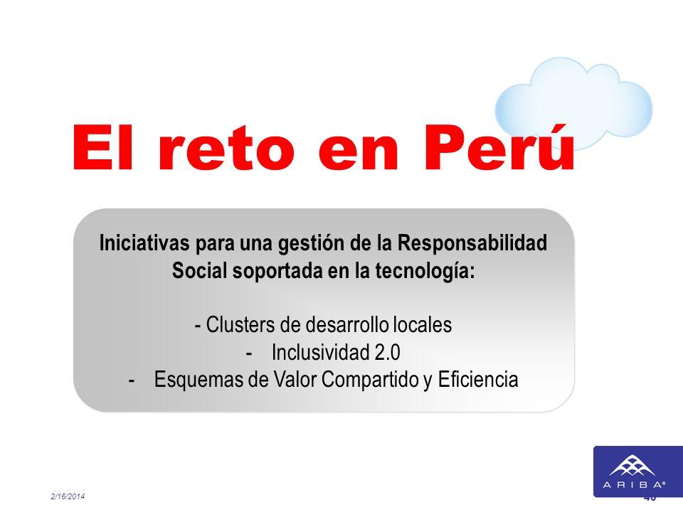 El reto en Perú Iniciativas para una gestión de la Responsabilidad Social soportada en la tecnología: