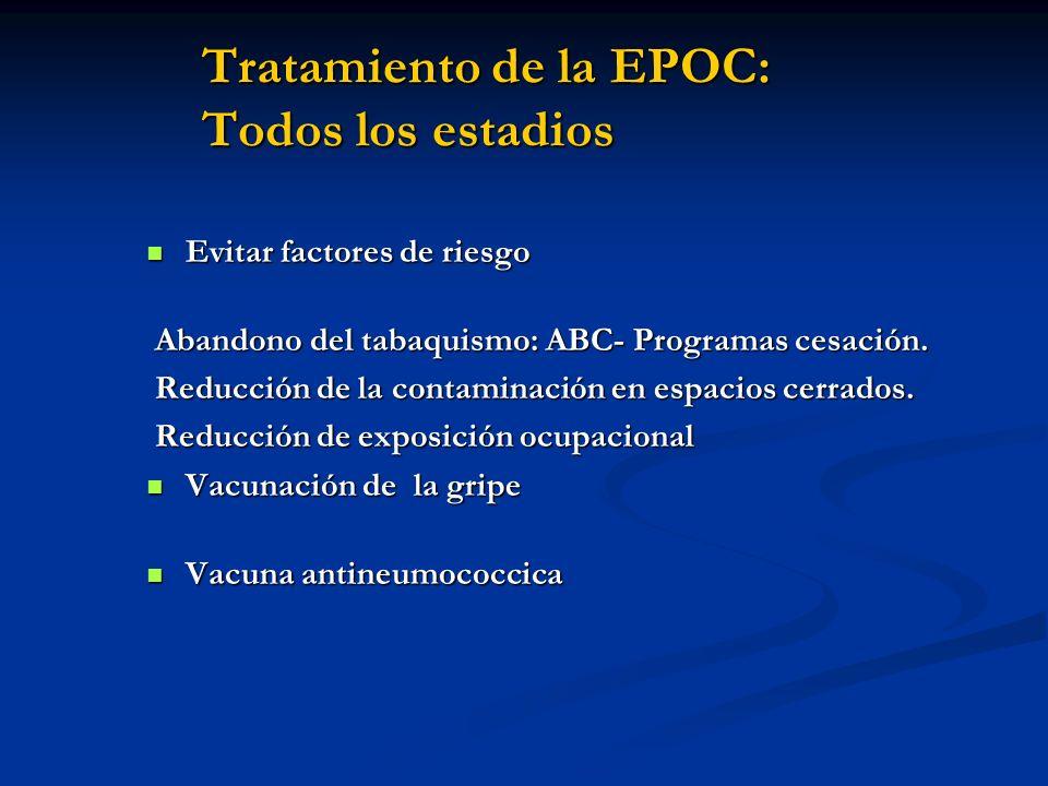 Tratamiento de la EPOC: Todos los estadios