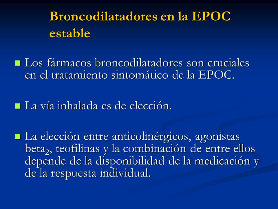 Broncodilatadores en la EPOC estable