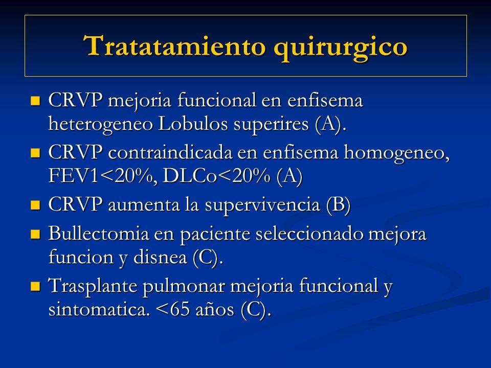 Tratatamiento quirurgico