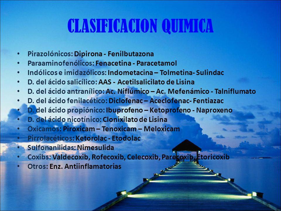 CLASIFICACION QUIMICA