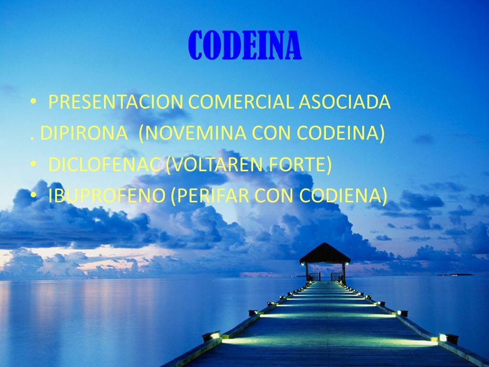 CODEINA PRESENTACION COMERCIAL ASOCIADA