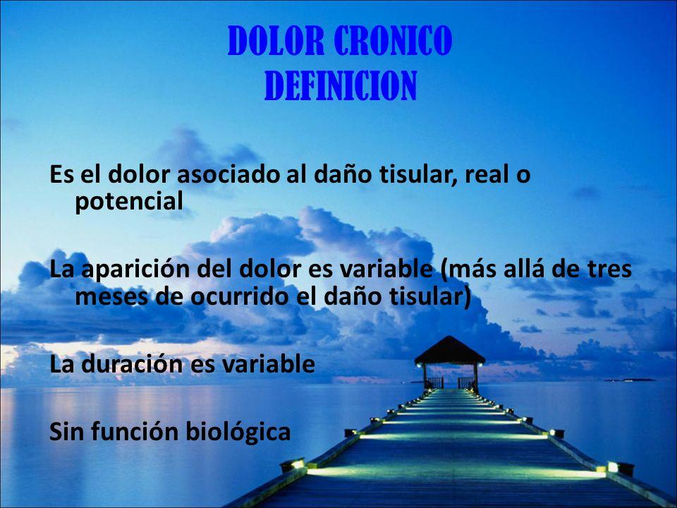 DOLOR CRONICO DEFINICION