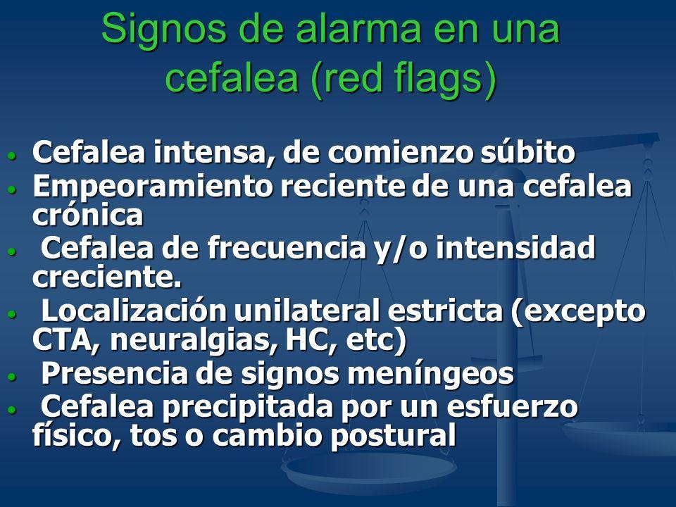 Signos de alarma en una cefalea (red flags)