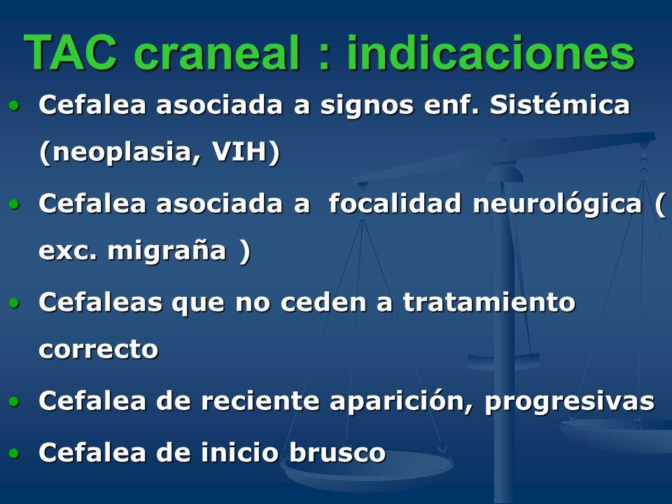 TAC craneal : indicaciones