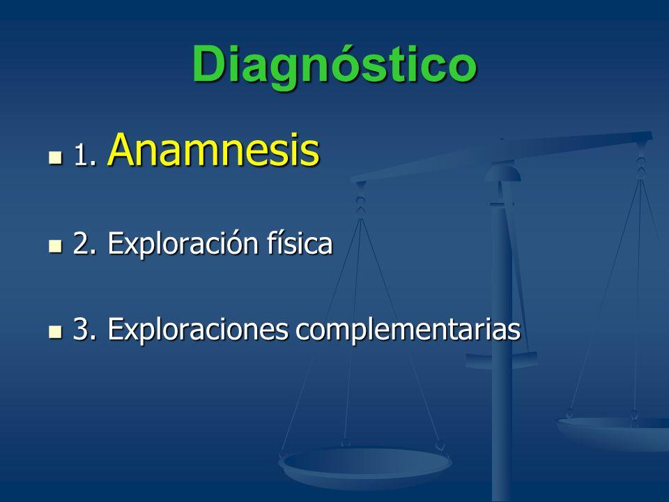 Diagnóstico 1. Anamnesis 2. Exploración física