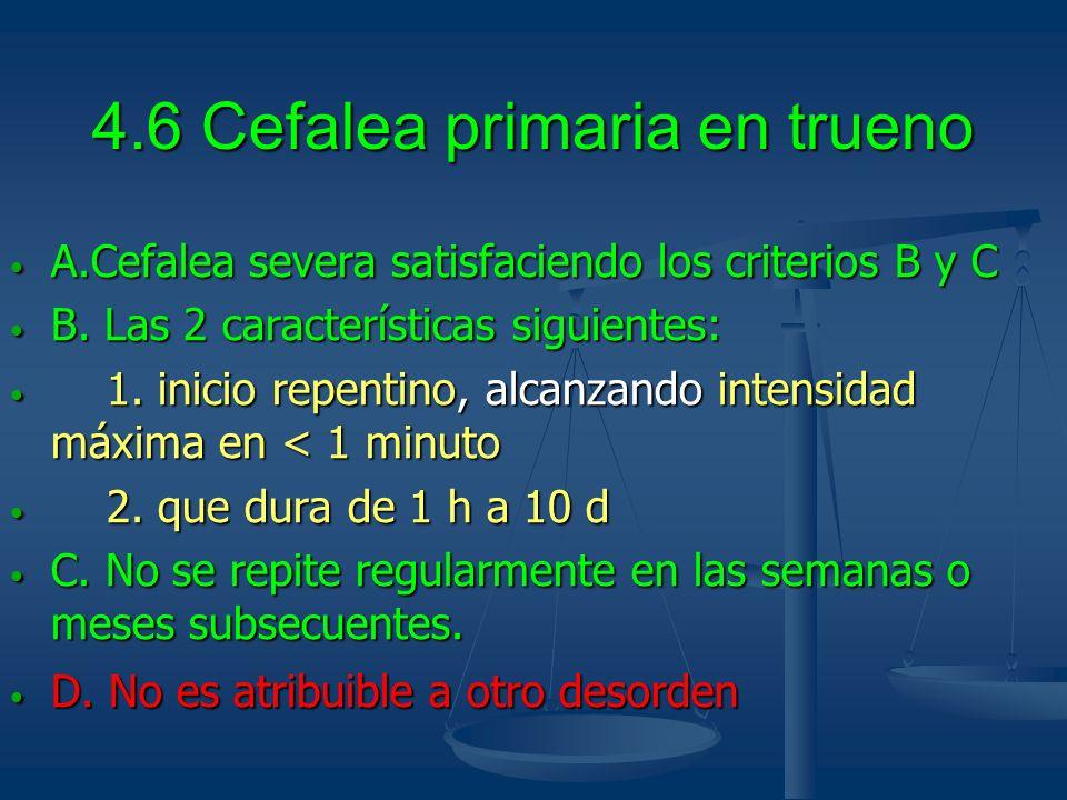 4.6 Cefalea primaria en trueno