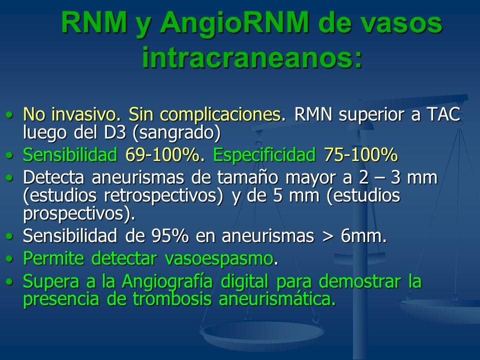 RNM y AngioRNM de vasos intracraneanos: