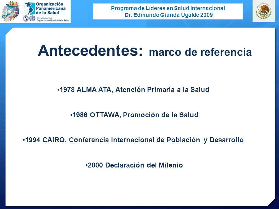 Antecedentes: marco de referencia
