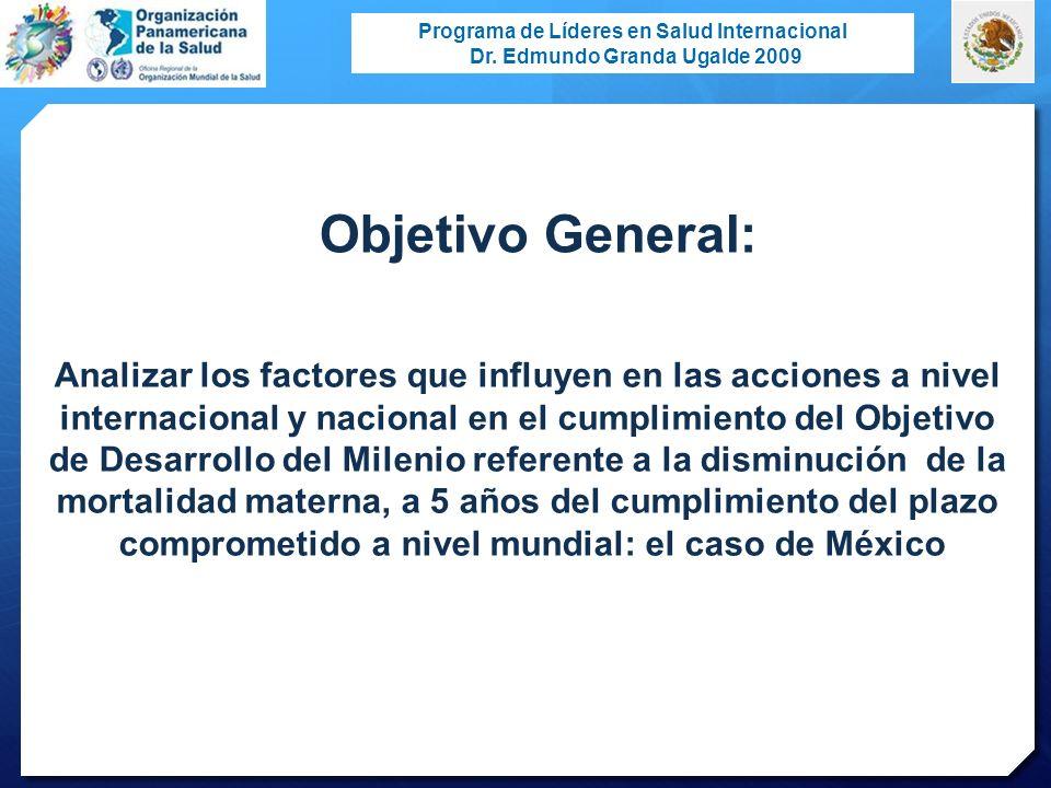 Objetivo General: Analizar los factores que influyen en las acciones a nivel. internacional y nacional en el cumplimiento del Objetivo.