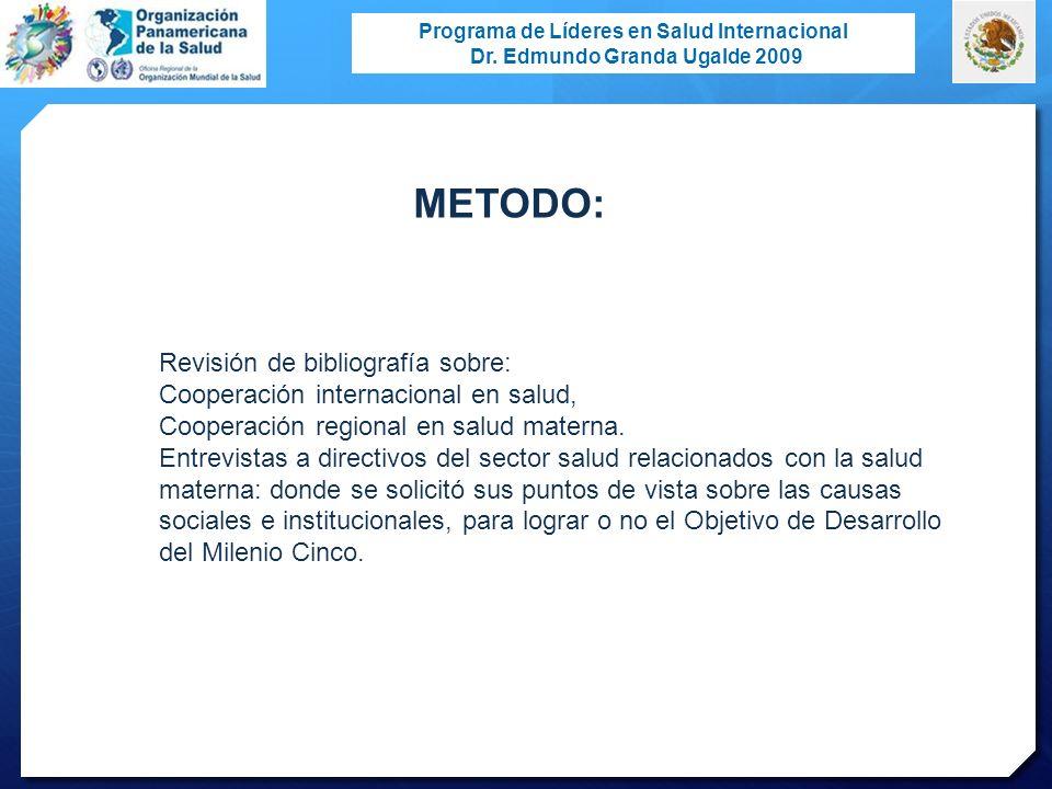 METODO: Revisión de bibliografía sobre: