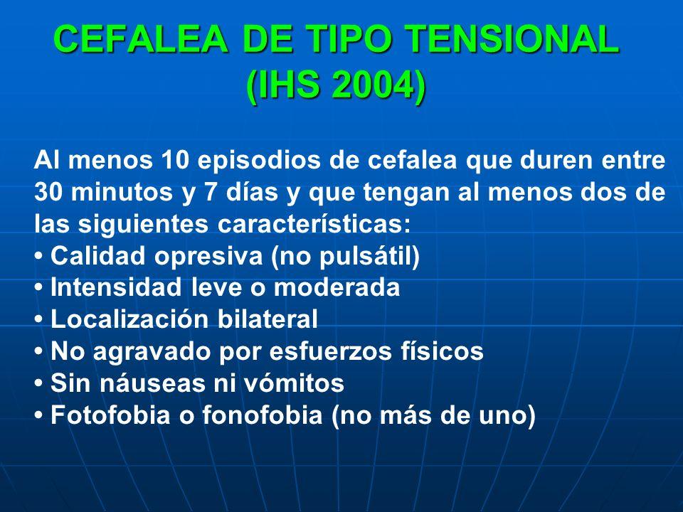 CEFALEA DE TIPO TENSIONAL (IHS 2004)