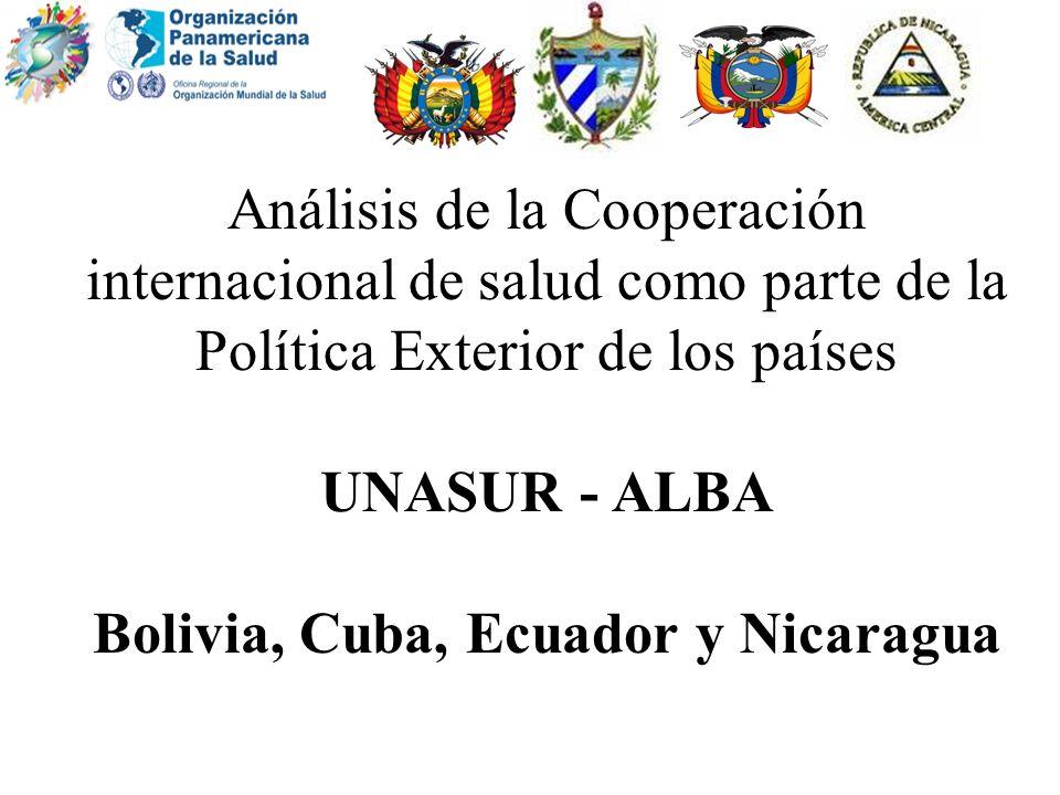 Bolivia, Cuba, Ecuador y Nicaragua