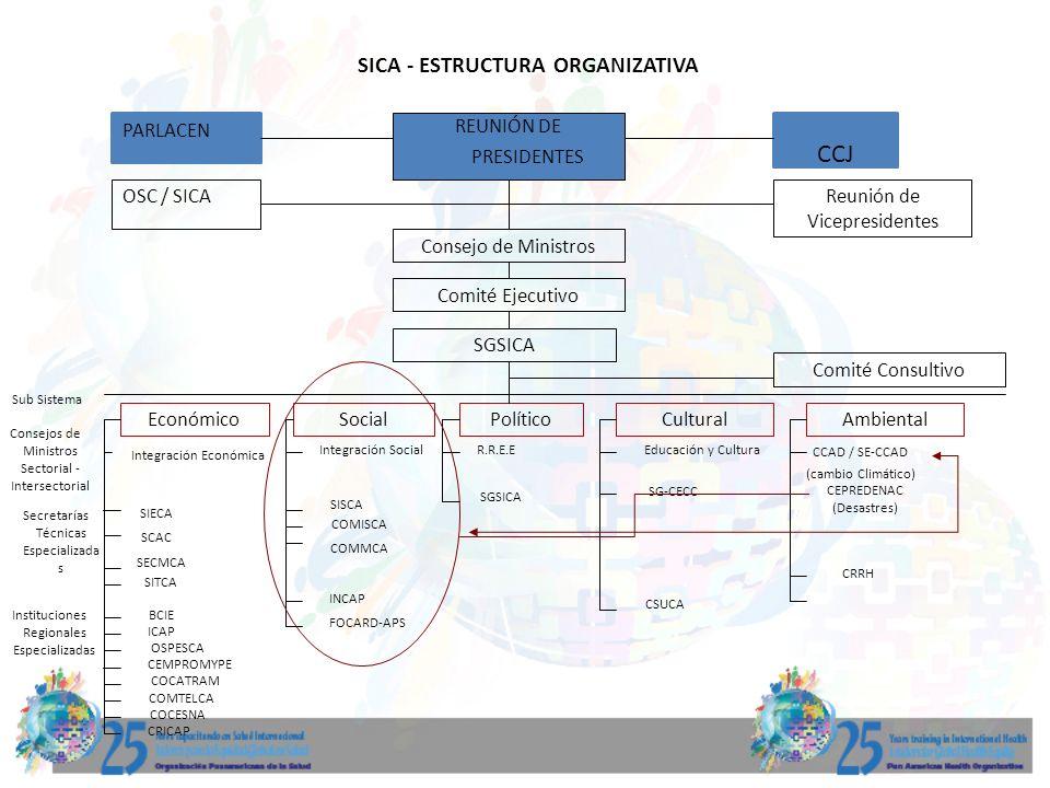 SICA - ESTRUCTURA ORGANIZATIVA