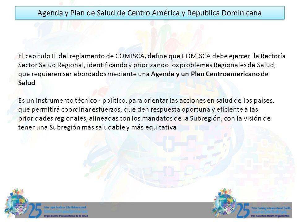 Agenda y Plan de Salud de Centro América y Republica Dominicana