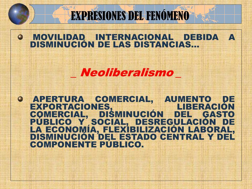 EXPRESIONES DEL FENÓMENO
