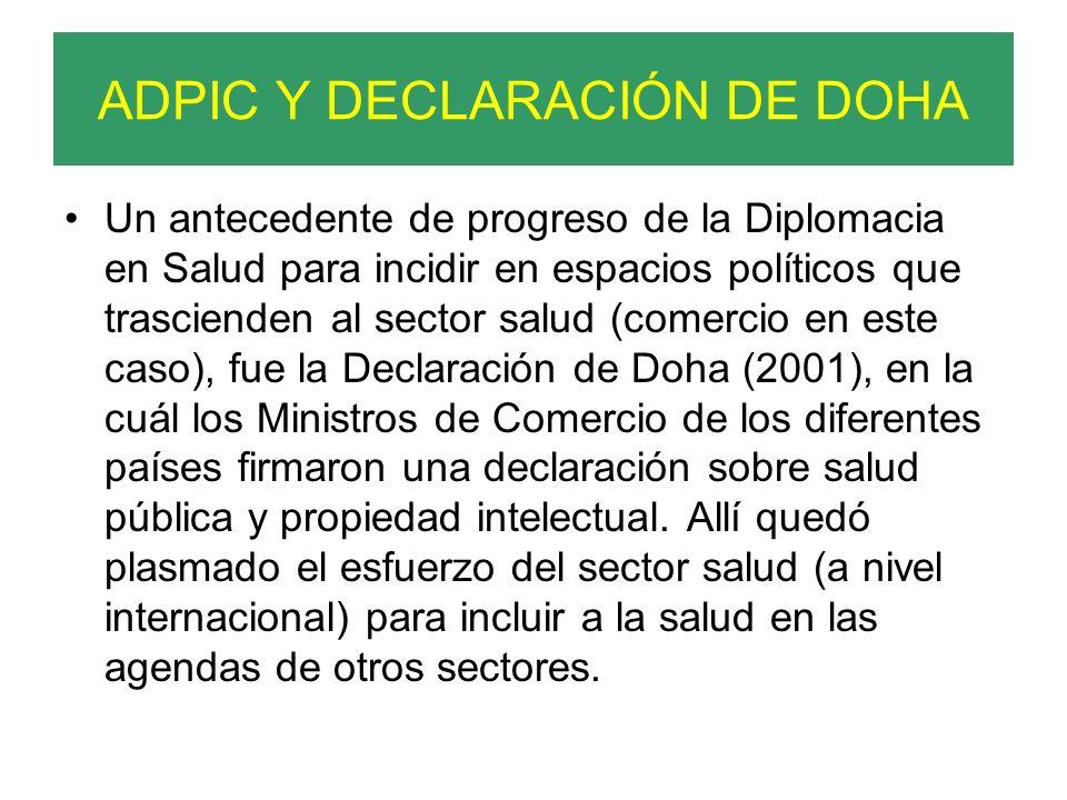 ADPIC Y DECLARACIÓN DE DOHA