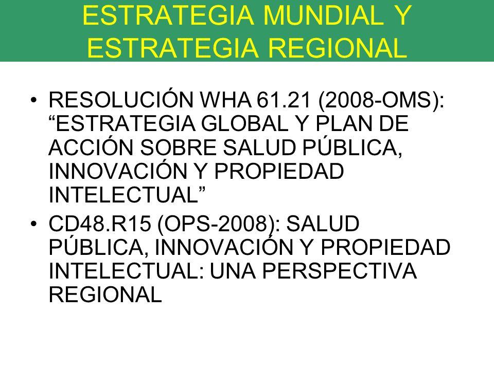 ESTRATEGIA MUNDIAL Y ESTRATEGIA REGIONAL