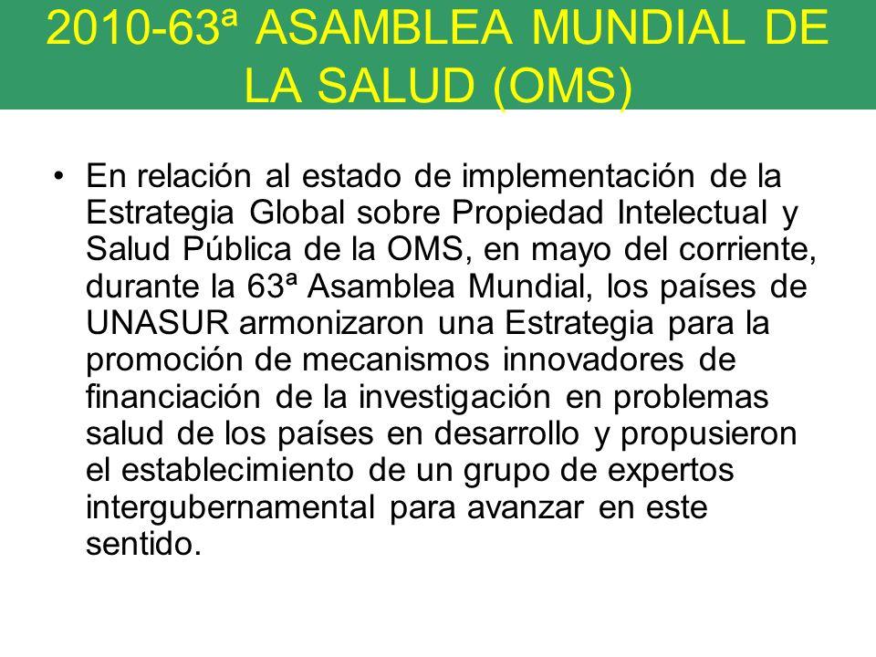 2010-63ª ASAMBLEA MUNDIAL DE LA SALUD (OMS)