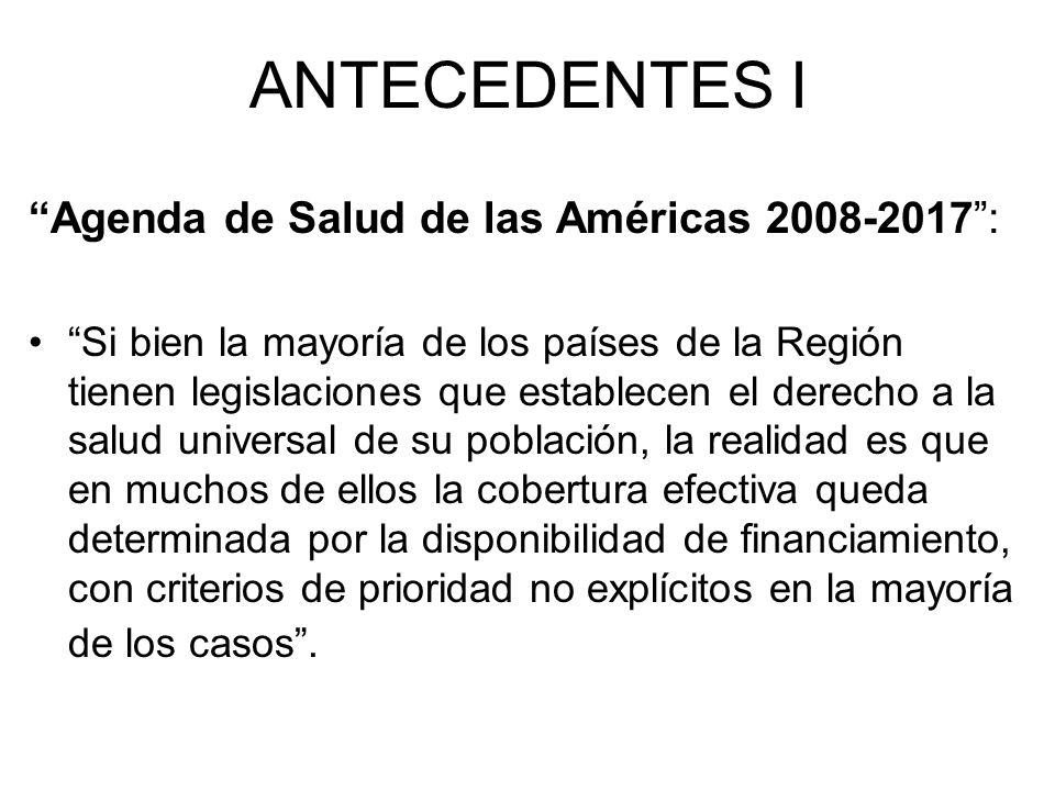 ANTECEDENTES I Agenda de Salud de las Américas 2008-2017 :