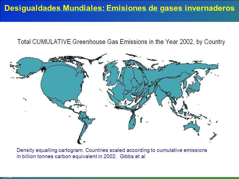 Desigualdades Mundiales: Emisiones de gases invernaderos