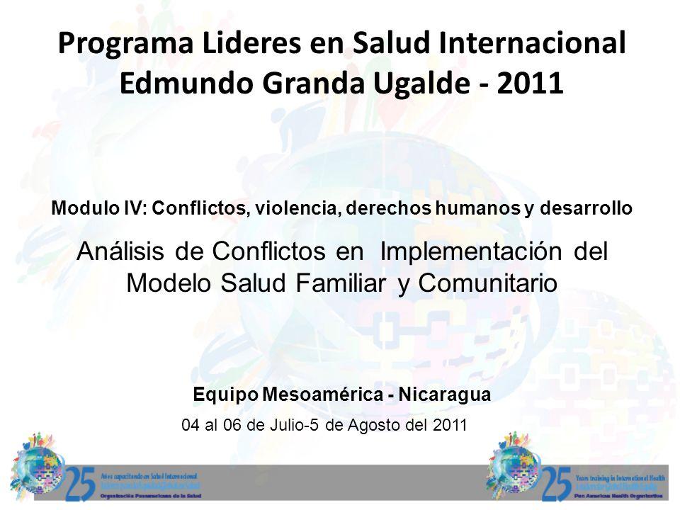 Programa Lideres en Salud Internacional Edmundo Granda Ugalde - 2011
