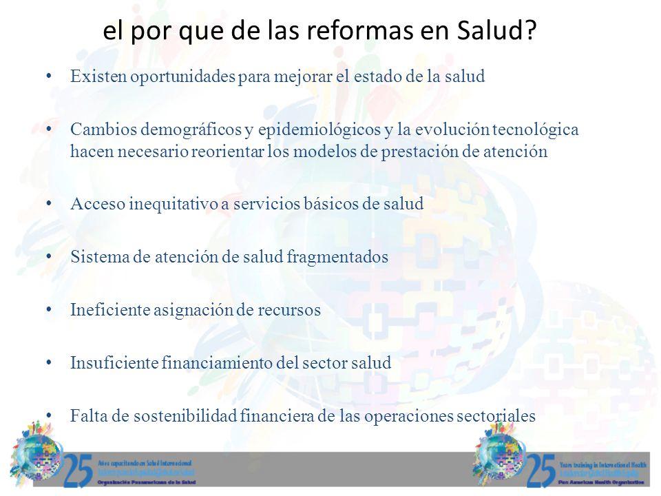 el por que de las reformas en Salud