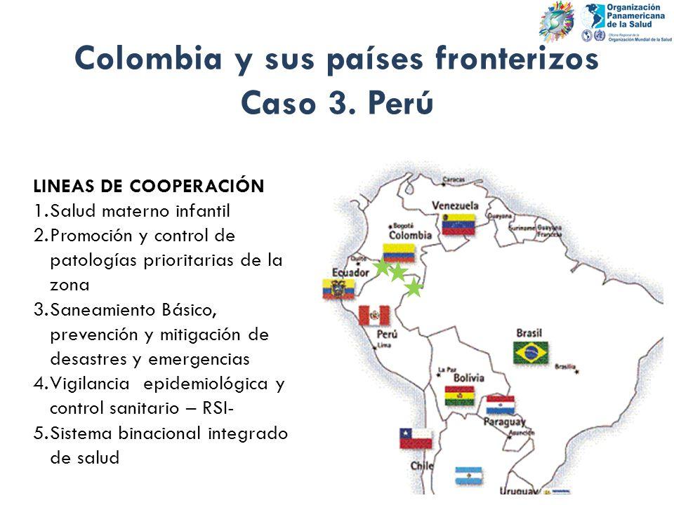 Colombia y sus países fronterizos Caso 3. Perú