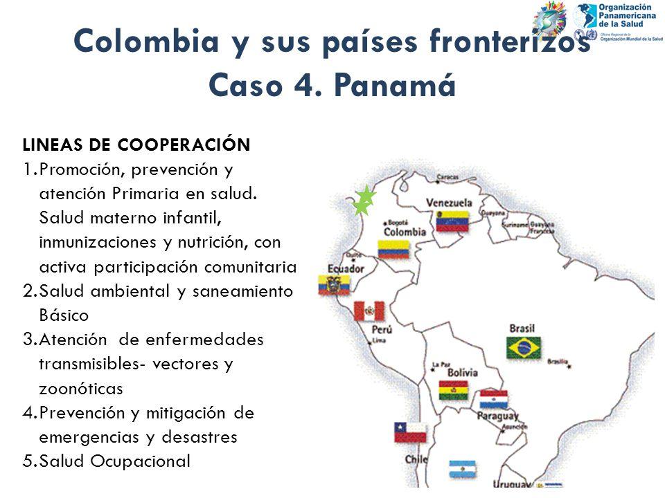 Colombia y sus países fronterizos Caso 4. Panamá