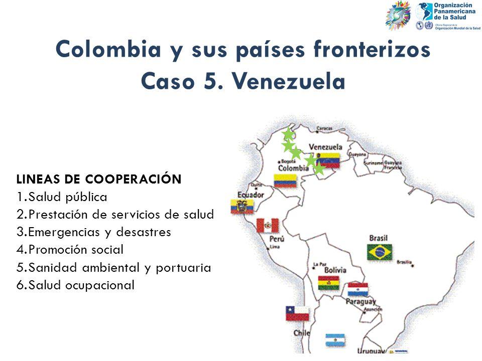 Colombia y sus países fronterizos Caso 5. Venezuela