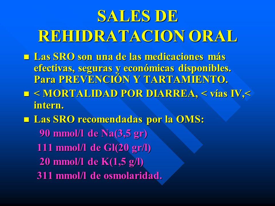 SALES DE REHIDRATACION ORAL