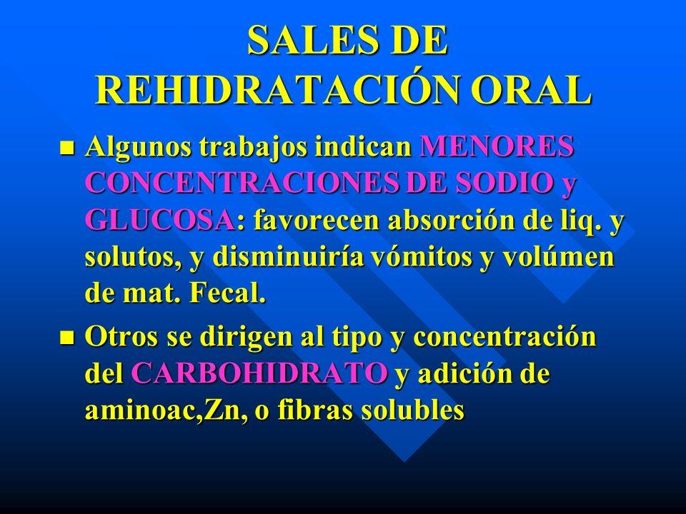 SALES DE REHIDRATACIÓN ORAL