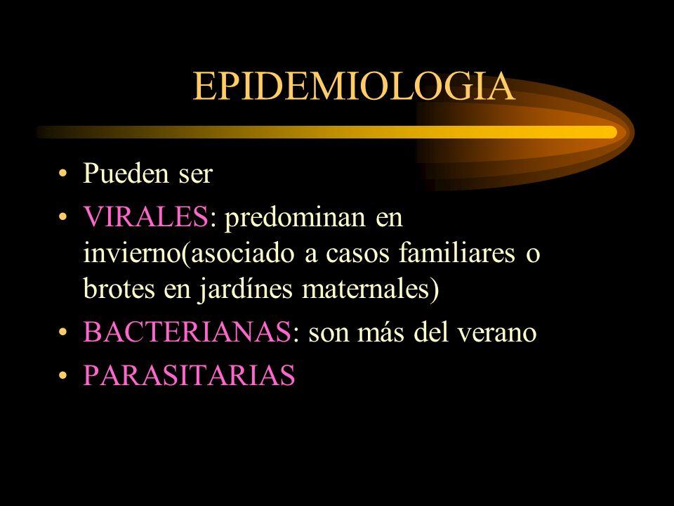 EPIDEMIOLOGIA Pueden ser